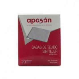 APOSAN GASA ESTERIL TEJIDO SIN TEJER 10 CM X 10 CM 20 GASAS (2