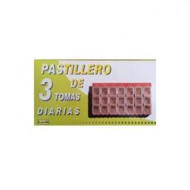 PASTILLERO SEMANAL SG - 3 ORGANIZADOR DE MEDICAMENTOS SEMANAL 3T DIARIA GDE