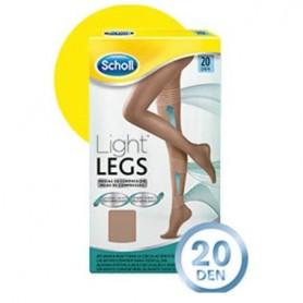 MEDIAS E.T. CINT COMP LIGERA 20 DEN SCHOLL LIGHT LEGS CARNE T- L