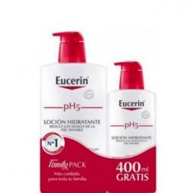 EUCERIN FAMILY PACK LOC SENS PH5 1L+400