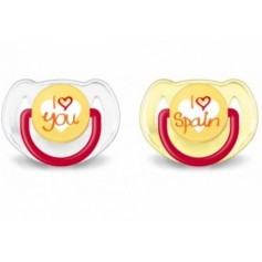 CHUPETE SILICONA PHILIPS AVENT I LOVE SPAIN 6 - 18 M 1 U