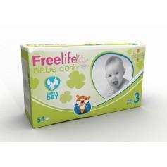 FREELIFE BEBECASH PAÑAL INFANTIL T- 3 54 U