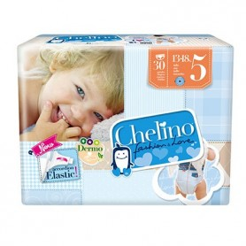 PACK PAÑAL INFANTIL CHELINO FASHION & LOVE T- 5 (13 - 18 KG) 30 PAÑALES X 2