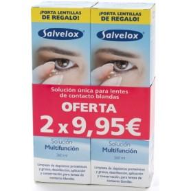 SALVELOX LENTES DE CONTACTO BLANDAS SOLUCION UNICA 360 ML 2 U