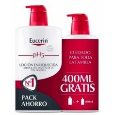 EUCERIN FAMILY PACK LOC PH5 ENRIQ 1L+400