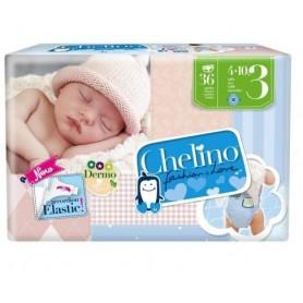 PACK PAÑAL INFANTIL CHELINO FASHION & LOVE T- 3 (4 - 10 KG) 36 PAÑALES X 2