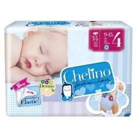 PACK PAÑAL INFANTIL CHELINO FASHION & LOVE T- 4 (9 - 15 KG) 34 PAÑALES X 2