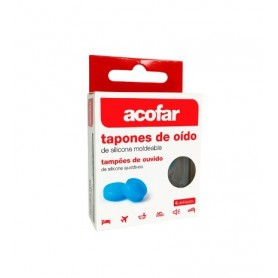 TAPONES OIDOS ACOFARMA SILICONA MOLDEABLE 6 U