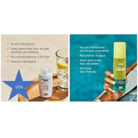 PACK ISDIN SUMMER HOLIDAYS: HYDRO 2 LOTION SPF50+ + FUSION WATER SPF50+ CON DTO -40%